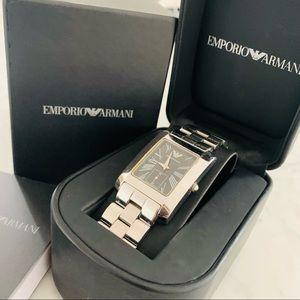 Emporio Armani Mens Silver Watch AR0156